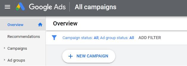 Google Ads Console