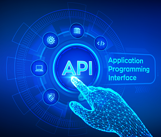 Finger touching SEO API