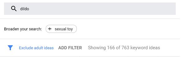 Google dildo ads manager